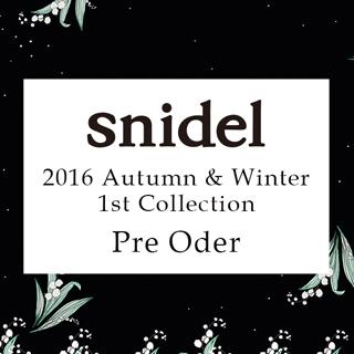 snidel[スナイデル]2016 Autumn&Winter 1st Collection秋の先行予約開催中!!